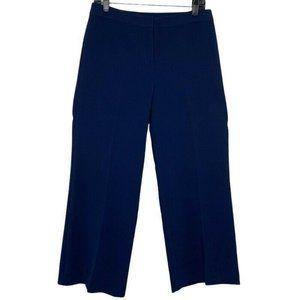 St. John Straight Leg Pants High Waist Flat Front